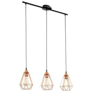 Eglo Tarbes 3 Light Pendant Light - Copper
