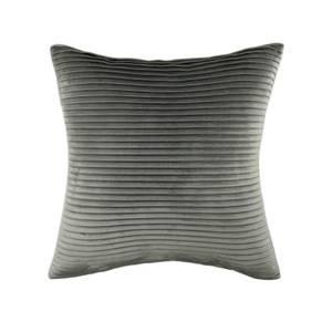 Folded Velvet Cushion - Grey
