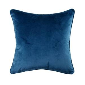 Plain Velvet Cushion - Navy - 45 x 45cm