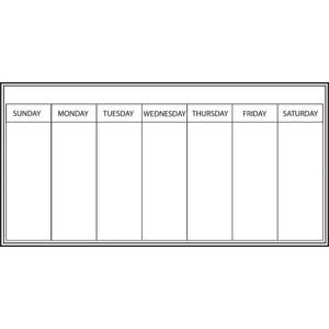 Wallpops 13 x 26 Inch Weekly Planner