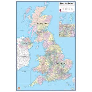 Wallpops 24 x 36 Inch British Isles Dry Erase Map