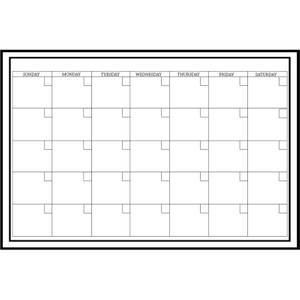 Wallpops 24 x 36 Inch White Monthly Calendar