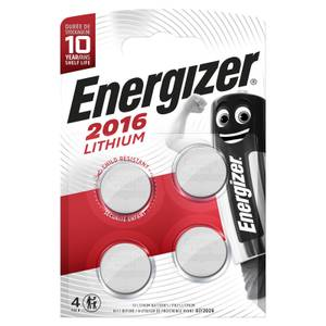 Energizer 2016 Lithium Coin Battery - 4 Pack
