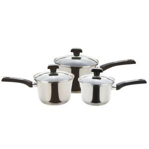 Prestige Durasteel Induction Saucepans - Set of 3