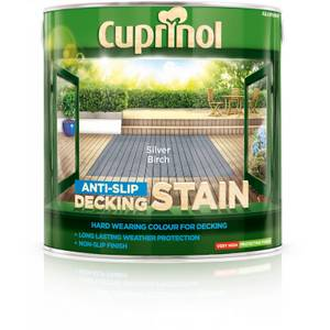 Cuprinol Anti-Slip Decking Stain - Silver Birch - 2.5L