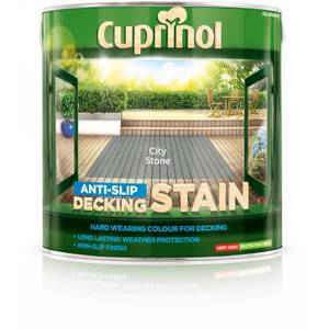 Cuprinol Anti-Slip Decking Stain - City Stone - 2.5L