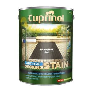 Cuprinol Anti-Slip Decking Stain - Hamps/Oak - 5L
