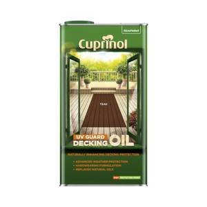 Cuprinol Uv Guard Decking Oil - Teak - 5L