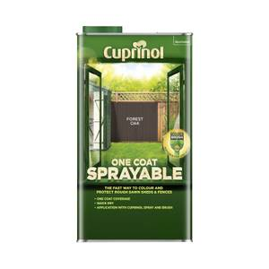 Cuprinol One Coat Sprayable Shed & Fence Paint - Forest Oak - 5L