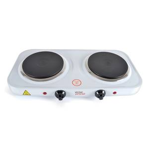 Kitchen Perfected 2000w Double Hotplate Wh.