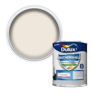 Dulux Weathershield Quick Dry Satin Paint - Almond White - 750ml