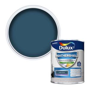 Dulux Weathershield Quick Dry Satin Paint - Indigo Shade - 750ml