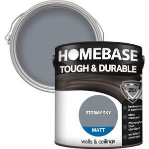 Homebase Tough & Durable Matt Paint - Stormy Sky 2.5L