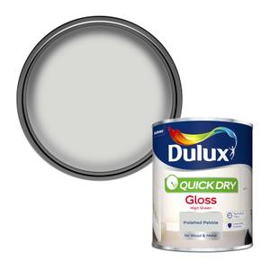 Dulux Quick Dry Gloss Paint - Polished Pebble - 750ml
