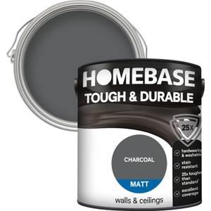 Homebase Tough & Durable Matt Paint - Charcoal 2.5L