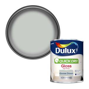 Dulux Quick Dry Gloss Paint - Goose Down - 750ml