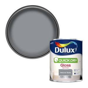 Dulux Quick Dry Gloss Paint - Natural Slate - 750ml