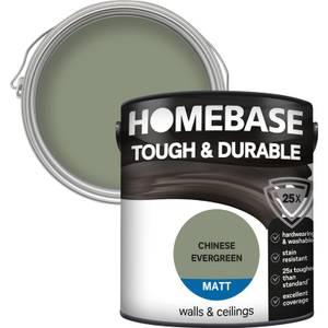Homebase Tough & Durable Matt Paint - Chinese Evergreen 2.5L