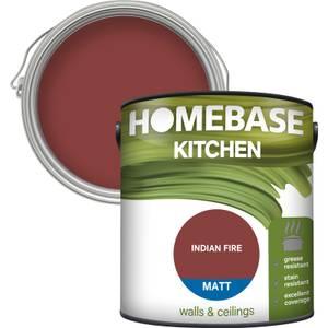 Homebase Kitchen Matt Paint - Indian Fire 2.5L
