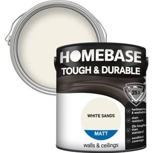 Homebase Tough & Durable Matt Paint - White Sands 2.5L