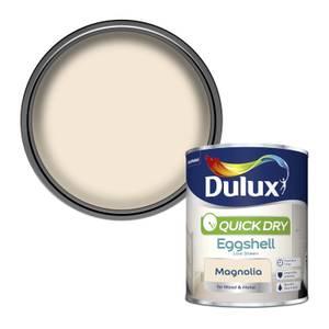Dulux Quick Dry Eggshell Paint - Magnolia - 750ml