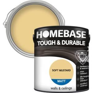 Homebase Tough & Durable Matt Paint - Smoked Mustard 2.5L