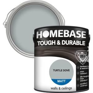 Homebase Tough & Durable Matt Paint - Turtle Dove 2.5L