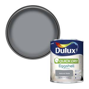 Dulux Quick Dry Eggshell Paint - Natural Slate - 750ml