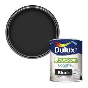 Dulux Quick Dry Eggshell Paint - Black - 750ml