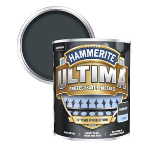 Hammerite Ultima Smooth Metal Paint - Grey - 750ml