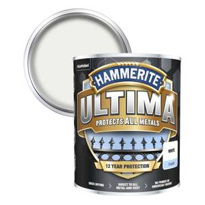Hammerite Ultima Smooth Metal Paint - White - 750ml