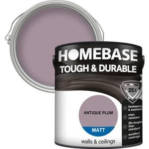 Homebase Tough & Durable Matt Paint - Antique Plum 2.5L