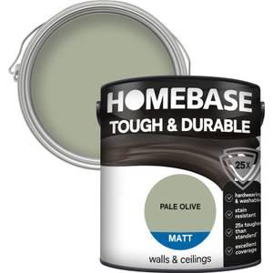 Homebase Tough & Durable Matt Paint - Pale Olive 2.5L