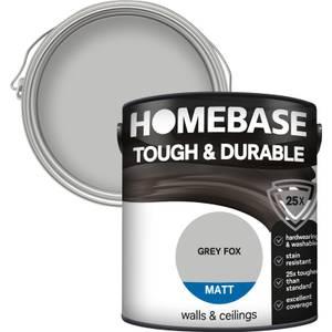 Homebase Tough & Durable Matt Paint - Grey Fox 2.5L