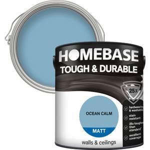 Homebase Tough & Durable Matt Paint - Ocean Calm 2.5L