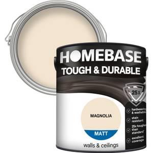 Homebase Tough & Durable Matt Paint - Magnolia 2.5L