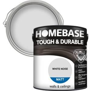 Homebase Tough & Durable Matt Paint - White Noise 2.5L