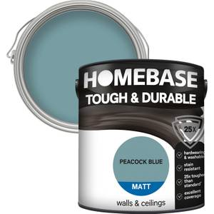 Homebase Tough & Durable Matt Paint - Peacock Blue 2.5L