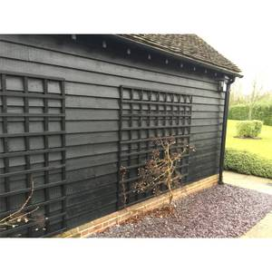 Black Painted Featheredge Cladding or Fencing pack of 22x175mmx4.2mtr (Pack of 4)