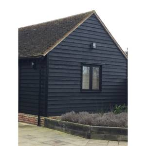 Premium Heavy Duty Black Painted Dutch Featheredge 28x195x4.8mtr Cladding or Fencing (Pack of 4)