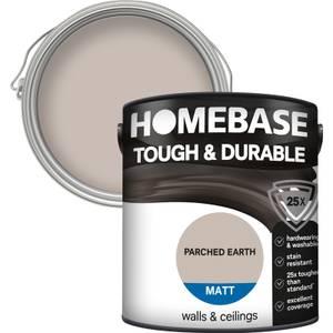 Homebase Tough & Durable Matt Paint - Parched Earth 2.5L