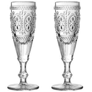 Fleur Champagne Glasses - Set of 2