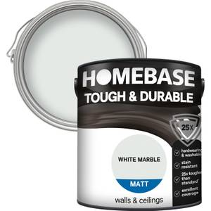 Homebase Tough & Durable Matt Paint - White Marble 2.5L