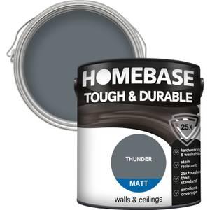 Homebase Tough & Durable Matt Paint - Thunder 2.5L