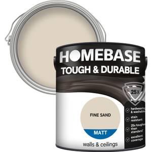 Homebase Tough & Durable Matt Paint - Fine Sand 2.5L
