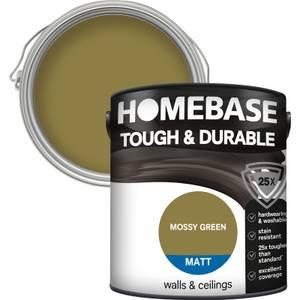 Homebase Tough & Durable Matt Paint - Moss Green 2.5L