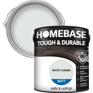 Homebase Tough & Durable Matt Paint - White Tundra 2.5L