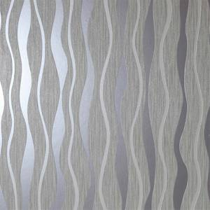 Arthouse Metallic Wave Grey Wallpaper