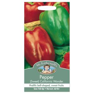 Mr. Fothergill's Sweet Pepper California Wonder Seeds