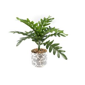 Artificial Plant with Abstract Pot